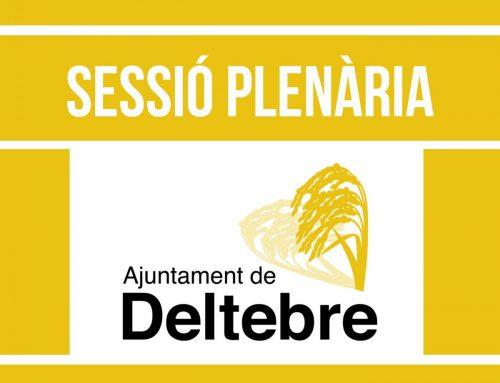 Sessió Plenària Ajuntament de Deltebre (16-09 2020)