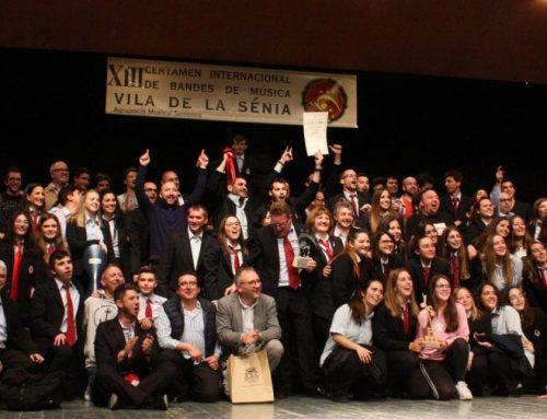 La banda de l'Olleria de València guanya el certamen internacional de La Sénia