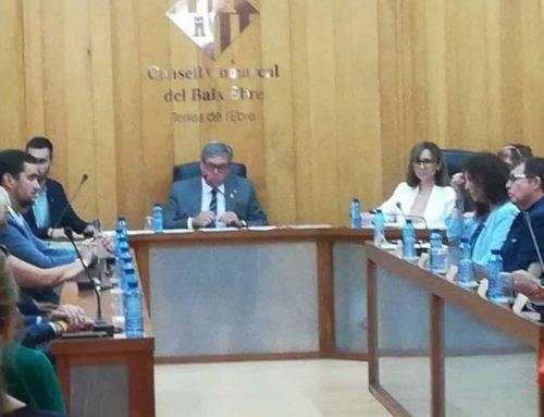 Faura es corona president del Consell Comarcal del Baix Ebre amb el vots de Movem