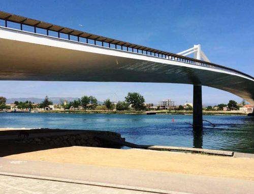 Una pantalla flotant al riu Ebre facilitarà la pràctica esportiva