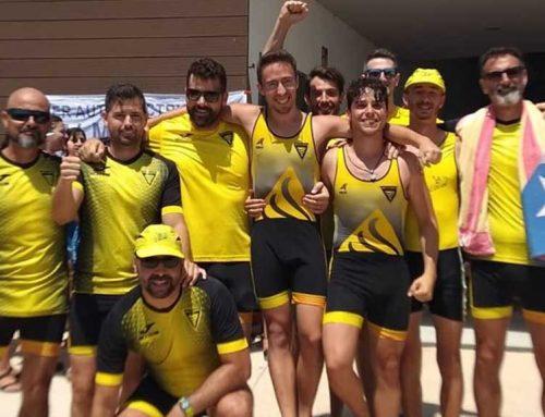 El sènior masculí del Xino Xano, tercer en l'última regata de la Lliga Catalana de Llagut