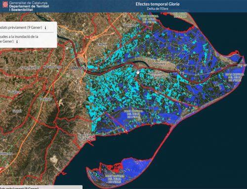L'Institut Cartogràfic i Geològic de Catalunya habilita un visor per comprovar l'extensió de les inundacions al Delta de l'Ebre