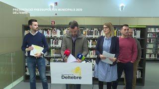 Presentació de pressupostos municipals 2020 i ordenances fiscals a Deltebre