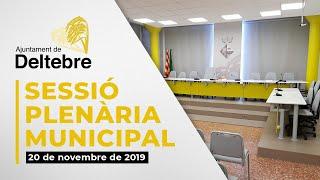 Presentació dels punts del plenari de desembre 2019