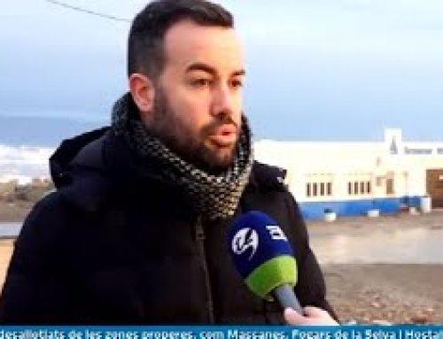 Entrevista a Lluís Soler, alcalde de Deltebre, sobre els efectes del temporal Glòria a la població