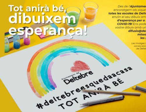 """""""Tot anirà bé, dibuixem esperança"""", la campanya dirgida als infants de Deltebre"""