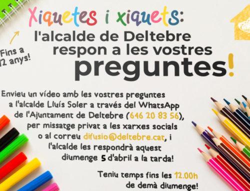 L'alcalde de Deltebre, Lluís Soler, respondrà les preguntes dels xiquets i xiquetes de menys de 12 anys