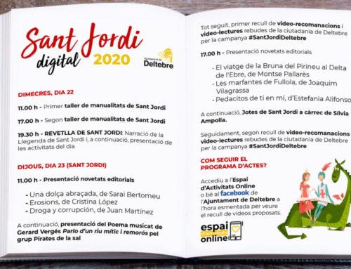 Deltebre celebrarà el seu primer Sant Jordi digital a través de la web i les xarxes socials