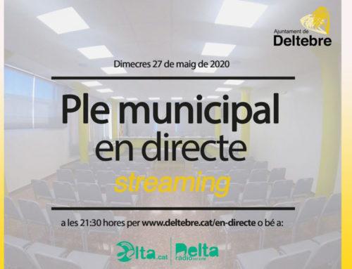 Avui, a les 21.30 h se celebrarà la sessió plenària del mes de maig