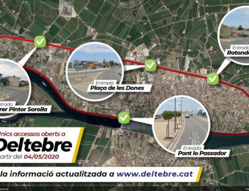 Deltebre reobre els accessos del carrer Pintor Sorolla i de la rotonda del Camp Nou