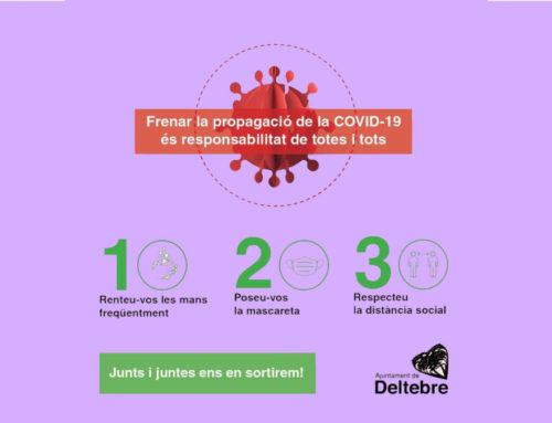 Nou cas de COVID-19 a Deltebre, confirmat per la Regió Sanitària