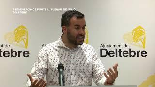 Presentació Punts Plenari Municipal de juliol de Deltebre