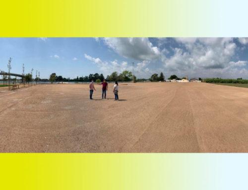Deltebre ja té pràcticament operativa l'àrea d'aparcament del Parc Fluvial
