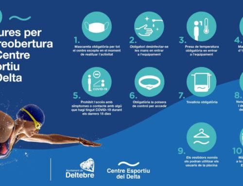 El Centre Esportiu del Delta reobrirà les portes el proper 14 de setembre